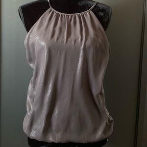 Express size medium sleeveless gray blouse .